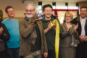 Philip Kim and Robert Englund at the ribbon-cutting ceremony. Photo: Silver Scream Film Fest