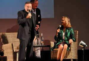 Robin Williams with Lauren Hutton at the SIFF Awards Show. Photo:sonomafilmfest