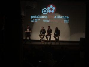 A Q & A session between filmmakers at the Film Fest Petaluma. Photo: T. Ruys